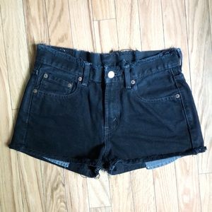 Vintage Levi's High Rise Distressed Jean Shorts